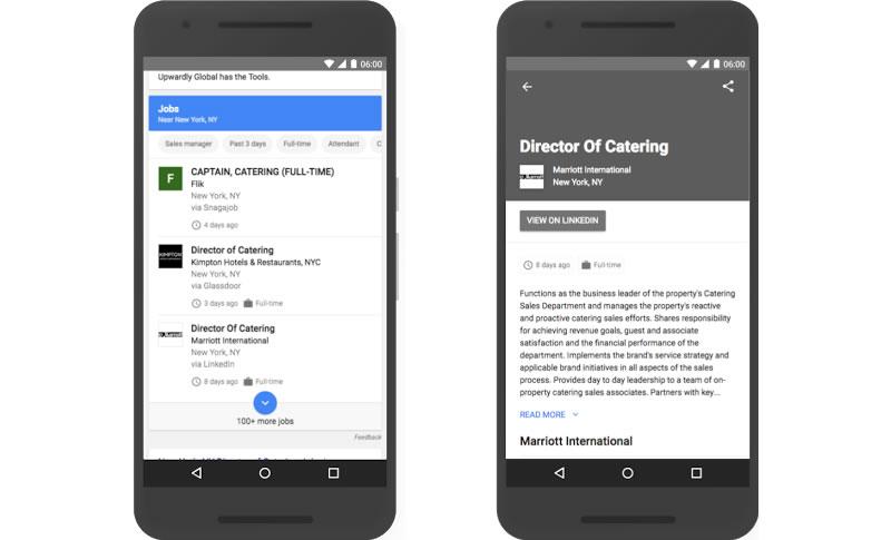 Google ci aiuterà a trovare lavoro