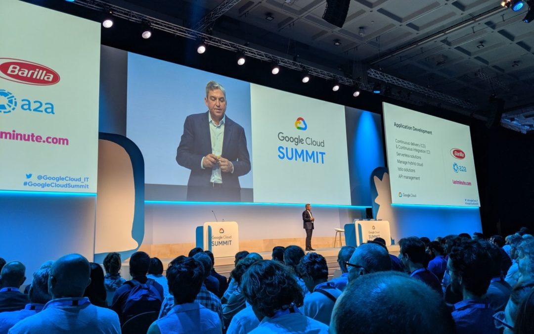 Partecipazione al Google Cloud Summit 2019 a Milano