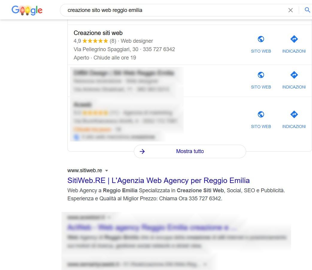 creazione sito web reggio emilia